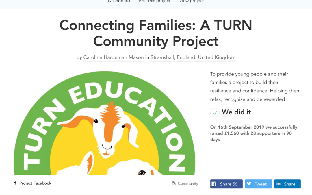 Crowdfunder for TURN Education